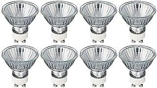 Ampoule Halogène GU10 50W 230V, Blanc Chaud 2700K Intensité Variable, Lot de 8