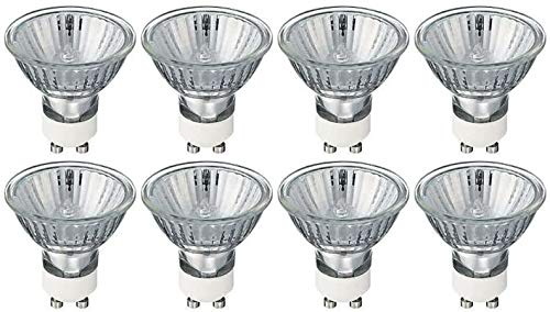GU10 50 Watt Halogen Reflektor Halogenlampe Warmweiß Dimmbar, 8 Stück