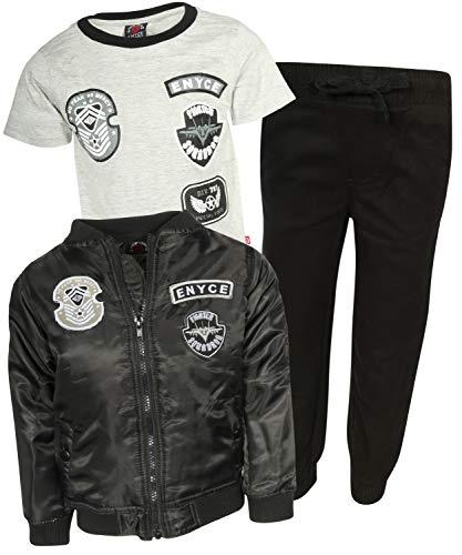 Enyce Boys 3-Piece Jacket & Pants Set, Black/Grey, Size 4'