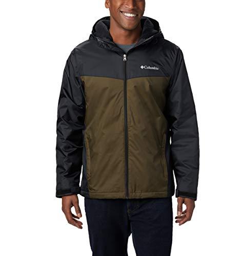Columbia Herren Glennaker Sherpa Lined Jacket Regenjacke, Schwarz, Olivgrün, 4X
