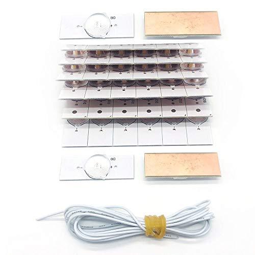 40PCS di alta qualità 3V SMD perline lampada perline lente lampada con fliter lente ottica e cavo per riparazione TV LED 32-65 pollici - trasparente