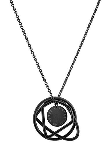 Liebeskind Berlin Damen-Kette mit Anhänger Icon Collier Edelstahl Silber 85 cm
