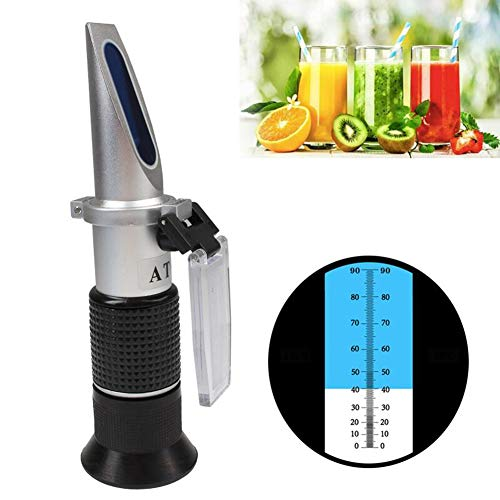 XFY 0-80{fef5218393a6374c8fccd410a88f5a82cdd53a26ec2948684346d2df8a17ee4a} Professionelles Brix-Refraktometer, Handmessgerät für den Zuckergehalt, Zuckergehalt Messgerät für Obst und Milch