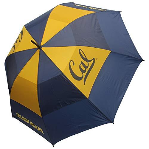"Team Golf NCAA California Golden Bears 62"" Golf Umbrella with Protective Sheath, Double Canopy Wind Protection Design, Auto Open Button"