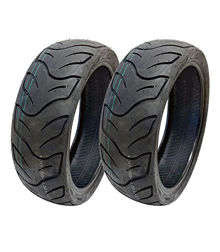 MMG Set of 2 Tires 130/60-13 Tubeless Front or Rear Motorcycle Scooter Moped