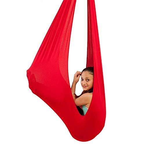 ZCXBHD Hamaca colgante para niños y adultos con necesidades especiales (color: rojo, tamaño: 150 x 280 cm)
