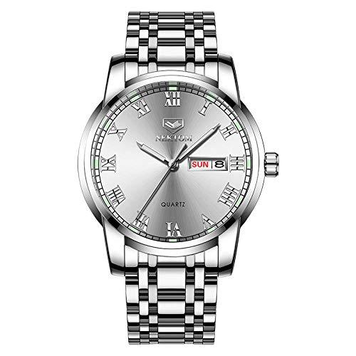 Reloj Analógico de Cuarzo para Hombre Classic Collection con Correa de Acero Inoxidable -D