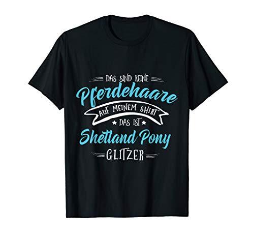 Shetland Pony Glitzer Pferd Pferde Mädchen Geschenk T-Shirt