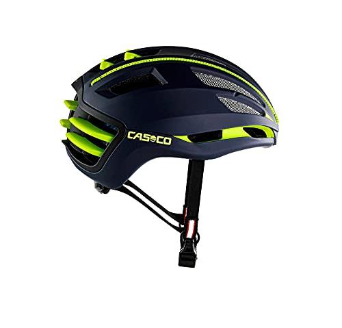 CASCO SPEEDairo 2 - Rennrad Fahrradhelm, Farbe:blau-neongelb, Größe:M