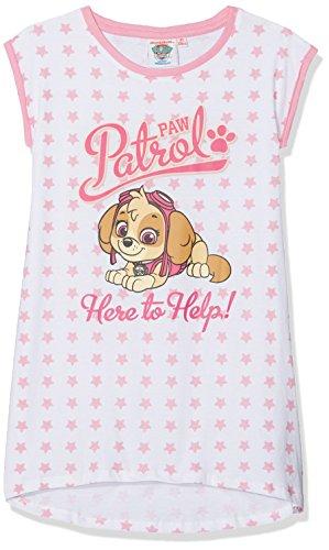 PAW PATROL Kinder Mädchen Nachthemd Kurzarm Gr.92-128 Schlafanzug Pyjama neu!, Farbe:weiß, Größe:92