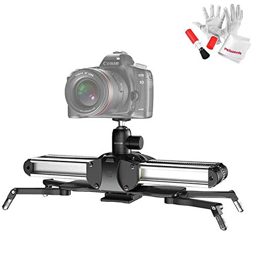 Zeapon Micro 2 Camera Rail Slider & EasyLock 2 Kit, Travel Distance 54cm/21in, Max. Payload 8kg/18lbs, Consistency Speed, Self-Locking, Automatic Dust Scraper, /W Pergear Cleaning Kit