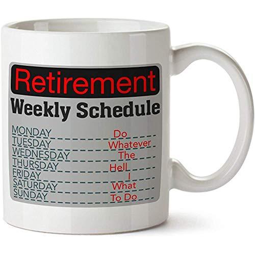Pensioen Wekelijkse Schema Porselein Koffie Mok - Keramische Beker