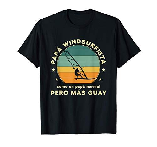 Hombre Papà Windsurfista Pero Más Guay Camiseta