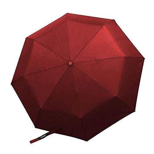 Innoo Tech Parapluie de Voyage Automatique, Parapluie Pliant Résistant au Vent, Léger, Mode, Durable, Coupe-Vent pour Femme et Homme Vin Rouge