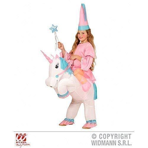 Lively Moments Aufblasbares Kostüm / Kinderkostüm / Mädchenkostüm Einhorn mit Prinzessin / Fee für Kinder