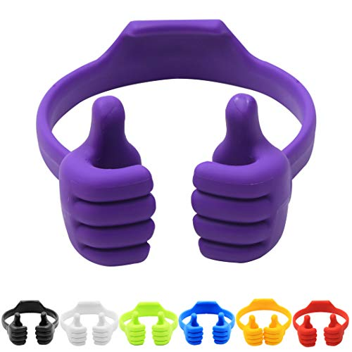 Thumbs-up Cell Phone Stand, Pack of 7, Honsky Universal Flexible Multi-Angle Cute Desk Desktop Phone Holder, Compatible with Android Switch Nintendo Tablet, Assorted Colors, Bundle