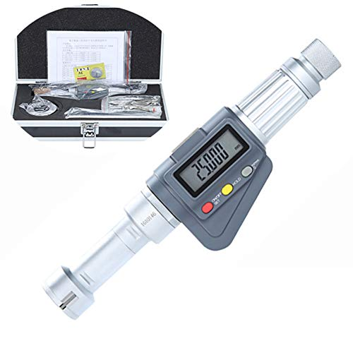 WNTHBJ Micrómetro De Pantalla Digital, Micrómetro De 0.001 Mm De Diámetro Interno De Tres Puntos con Pantalla LCD Más Grande, Conversión De Mm/Pulgada,6/8mm