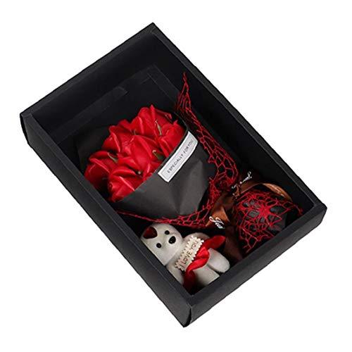 Gracy Jabones Flores de Rose Simulación de 7 Rosas romántica Oso jabones...