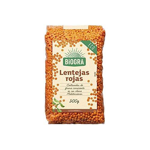 Lentejas Rojas BIO Biogra, 500 gr