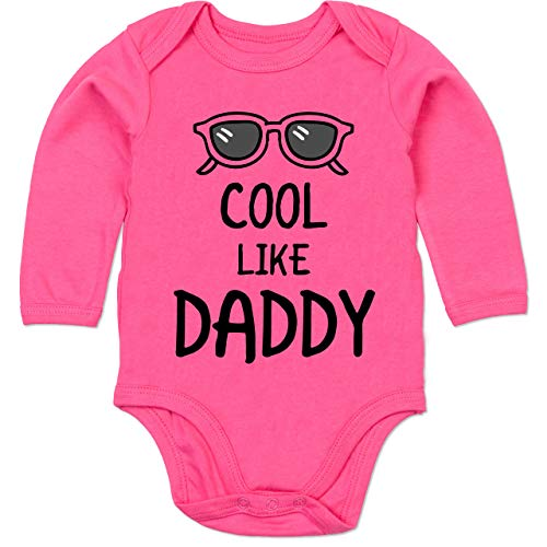Shirtracer Sprüche Baby - Cool Like Daddy - 6/12 Monate - Fuchsia - Baby Body Daddy - BZ30 - Baby Body Langarm