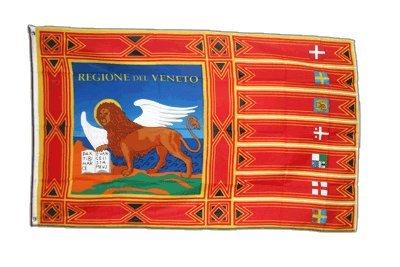 Fahne / Flagge Italien Venetien Venezien + gratis Sticker, Flaggenfritze®