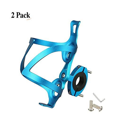 LOOZY Flaschenhalter Fahrrad Fahrrad Trinkflaschenhalter Sicheres Rückhaltesystem,Leichter Und Starker Robuster Aluminium,aluminiumlegierung Mountainbikes, Und Rollstuhl (Color : Blau)
