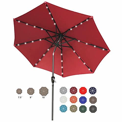 ABCCANOPY 9FT Patio Umbrella Ourdoor Solar Umbrella LED...