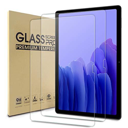 WD&CD 2 Piezas Protector de Pantalla Compatible para Samsung Galaxy Tab A7 10.4 2020, 9H Dureza, Alta Definicion, Cristal Vidrio Templado Film Compatible con Galaxy Tab A7 10.4 Pulgadas