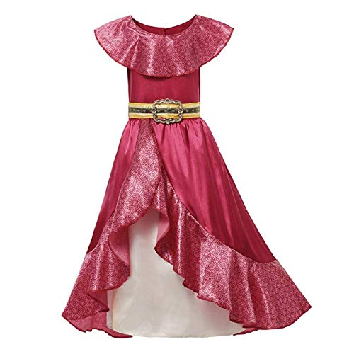 Ragazza Classico Principessa Elena Rosso Cosplay Costume Bambini Di Avalor Elena Vestito Bambini Senza Maniche Partito Halloween Ball Gown Abiti