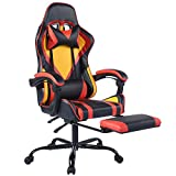 Gaming Chair Computer Racing Chair Ergonomic Recling Chair with Footrest, Home Office Chair