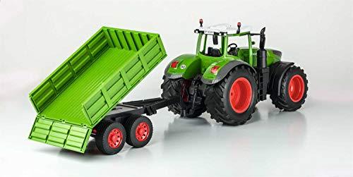 RC Auto kaufen Traktor Bild 5: Carson 500907314 500907314-1:16 RC Traktor mit Anhänger 100% RTR, Ferngesteuertes Fahrzeug, Baufahrzeug mit Funktionen Licht und Sound, inkl. Batterien und Fernsteuerung, grün*