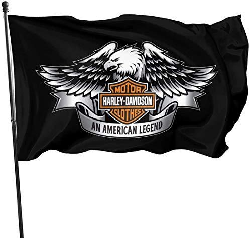 YeeATZ Harley Davidson Fahnen Flagge Flag Banner Polyester Material Gartenbalkon Gartendekoration Im Freien 90x150cm