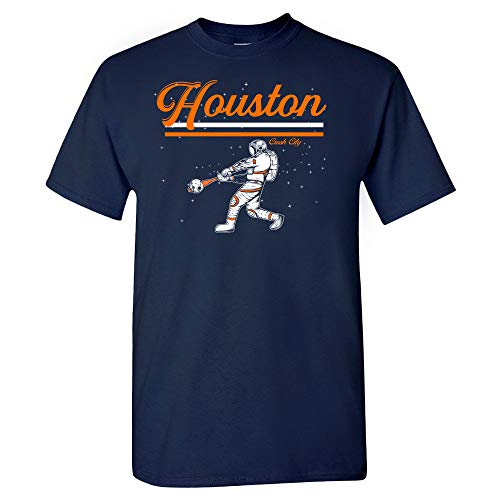 Houston Space Baseball Htown Crush City Shirt (Navy, XL)
