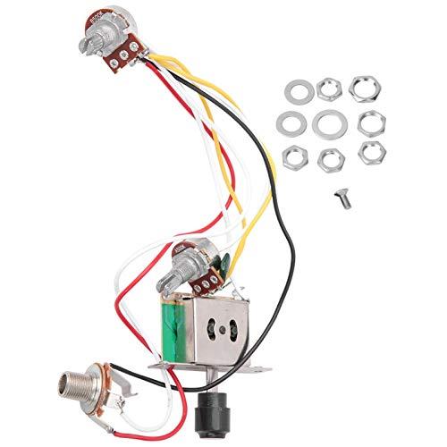 FEBT Arnés de cableado de Guitarra eléctrica, arnés de cableado de potenciómetro 1T1V, Tienda de reparación de Instrumentos de Enchufe de Interruptor de 3 Posiciones de Guitarra eléctrica