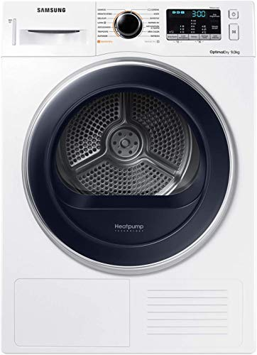Samsung DV90M5000QW Asciugatrice 9 kg, Bianco con Oblò Blu