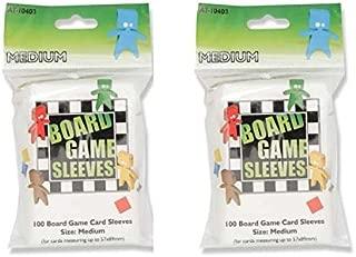 Arcane Tinmen Medium Board Game Card Sleeves – 57mm x 89mm – Bundle of 2 – 200 Sleeves Total