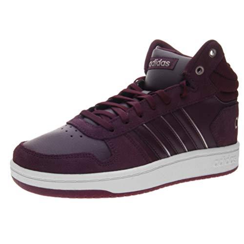 adidas Damen Hoops 2.0 Mid Basketballschuhe, Rot (Maroon/Maroon/Ftwwht Maroon/Maroon/Ftwwht), 41 2/3 EU