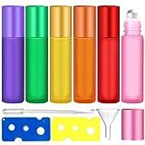 JJQHYC Bottiglie di Vetro a Rullo, Oli Essenziali Bottiglia con Apriscatole e Contagocce per Profumi di Oli Essenziali (10 ml)