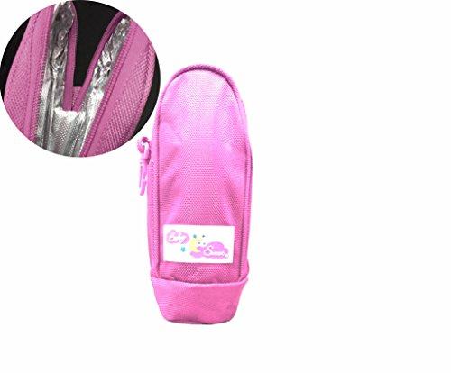 Portabiberon termico in tessuto 22,5 x 7,5 x 10 cm BABY SWEET mantiene temperatura per 3 ore HS-0899. MEDIA WAVE store (Rosa)