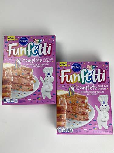 Unicorn Funfetti Pillsbury Complete Pink Pancakes and Waffle Mix 2Pack
