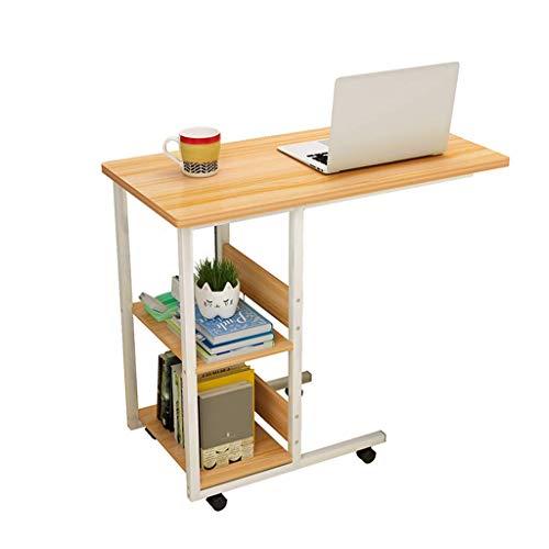 CENPEN Escritorio para computadora Lazy Mesilla de noche, escritorio simple para el hogar, dormitorio, mesa de estudiante movible, mesa pequeña de 40 x 60 x 75 cm