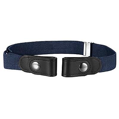 Buyless Fashion Kids Boys Toddler No Buckle Adjustable Elastic Dress Stretch Belt - 5098-Navy