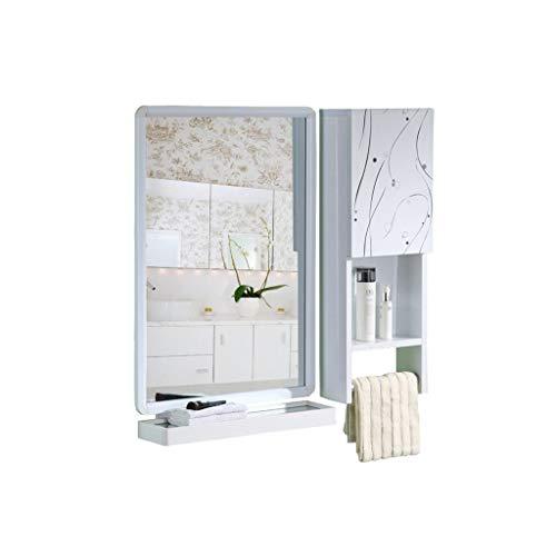 QXHELI Spiegels Spiegels - eenvoudige moderne ruimte van de aluminium badkamer opbergkast muur thuis afhankelijk wastafel toilet handdoek rek spiegel spiegels op een plank