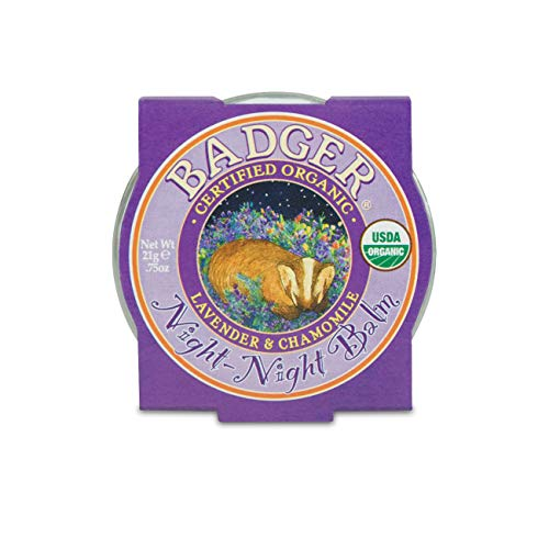 Badger - Night Night Balm, Chamomile & Lavender, Natural Sleep Balm for Kids, Scented Relaxing Balm for Children, Kids Organic Sleep Balm, 0.75 oz