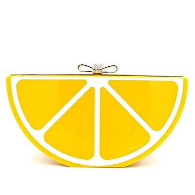 Women Acrylic Lemon Evening Bags Purses Clutch Vintage Banquet Handbag