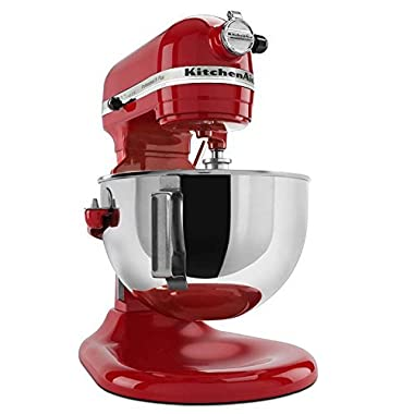KitchenAid RKP26M1XCA Professional 600 Series 6Qt Bowl-Lift Stand Mixer Candy Apple Red 6-Quart