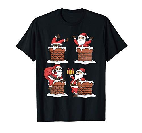 Weihnachtsshirt Weihnachtsmann Shirt Geschenk Schornstein T-Shirt