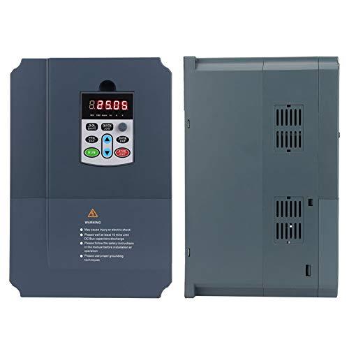 Oumefar Controlador de frecuencia Variable Salida trifásica Convertidor de frecuencia Variable 220V Entrada monofásica 7.5KW para Equipos de máquinas
