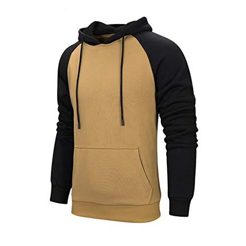 Kapuzenpullover für Herren und Damen, Holeider Paar Kostüm Basic Kapuzen-Sweatshirt Langarm Hoodie Unisex Herbst Winter Casual Mode Streetwear Mantel Farbabstimmung
