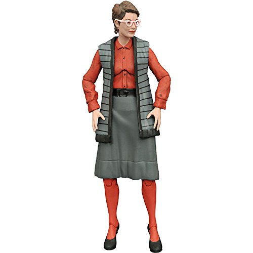 Janine Melnitz: Diamond Select x Ghostbusters Action Figure Wave 3 + 1 Free Classic Sci-fi & Horror Movies Trading Card Bundle (73082)